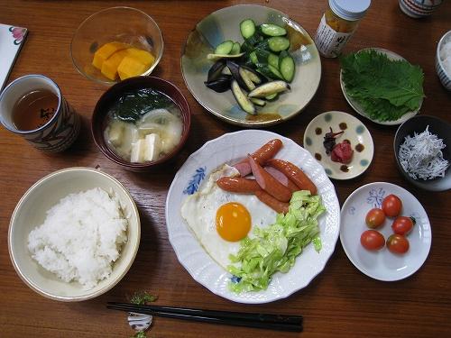 夏のスタミナ 朝ご飯