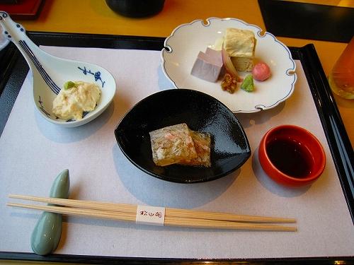 JR京都駅の「ゆばと京旬菜 松山閣」で豆腐料理