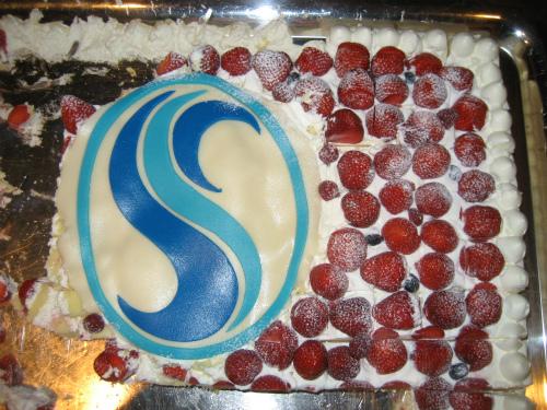 60周年記念パーティでのケーキ