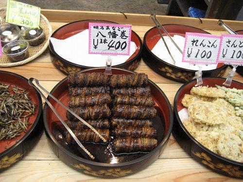 天ぷらや、八幡巻も売っています