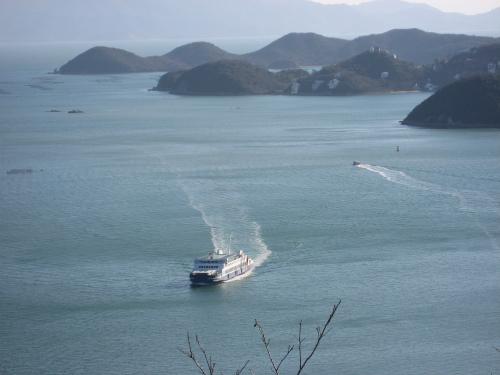 「みなとがみえる丘公園」からは、日生諸島を一望できます