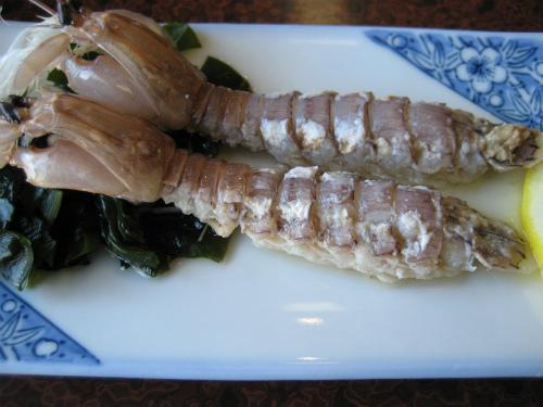 シャコと牡蠣のある定食コースにしました