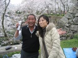 赤田先生ご夫妻のお陰で、楽しいお花見となりました