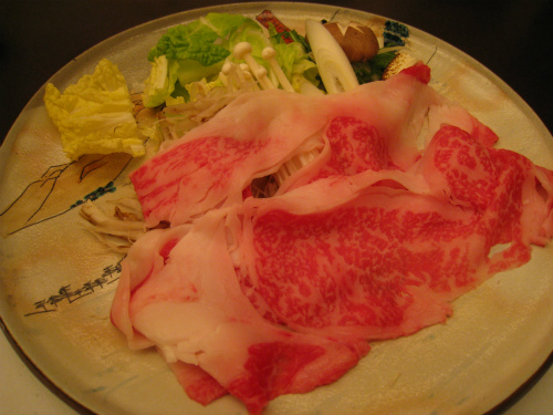 、日本料理「八幡ぼり」で夕食