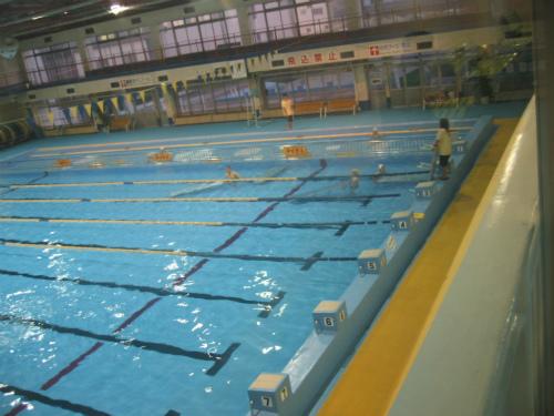 兵庫県立大水泳部、室内練習